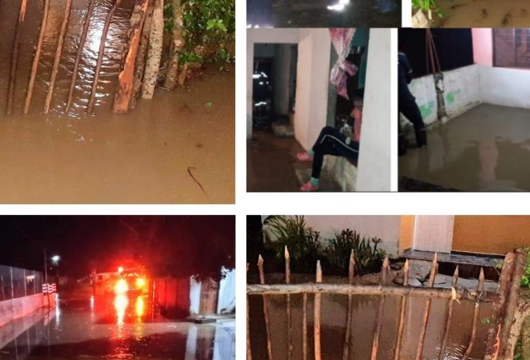 Fuertes lluvias caídas en las ultimas horas en el departamento de Sucre, generaron inundaciones en Coveñas