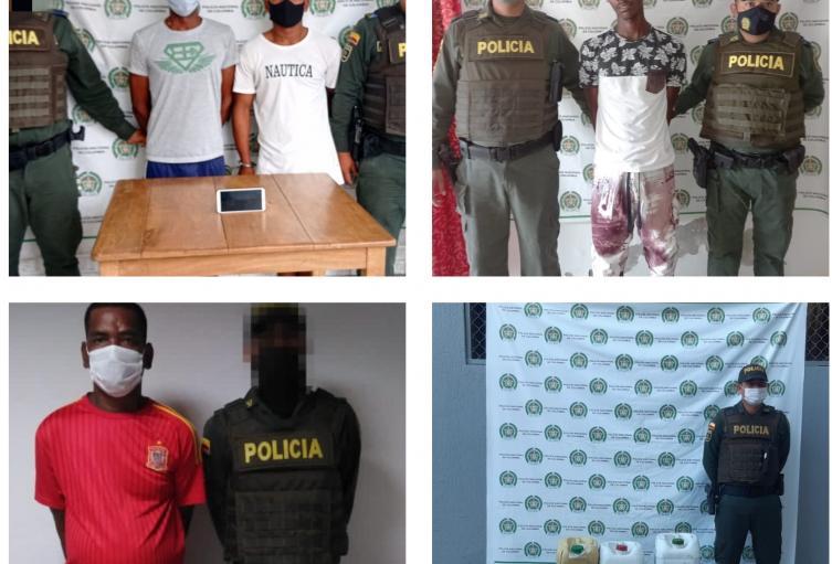 Por los delitos de hurto, violencia intrafamiliar, tráfico de estupefacientes, e incautación de licor fueron capturadas varias personas en el Departamento de Sucre.