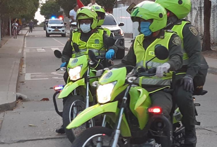 Motorizados de la Policía Nacional