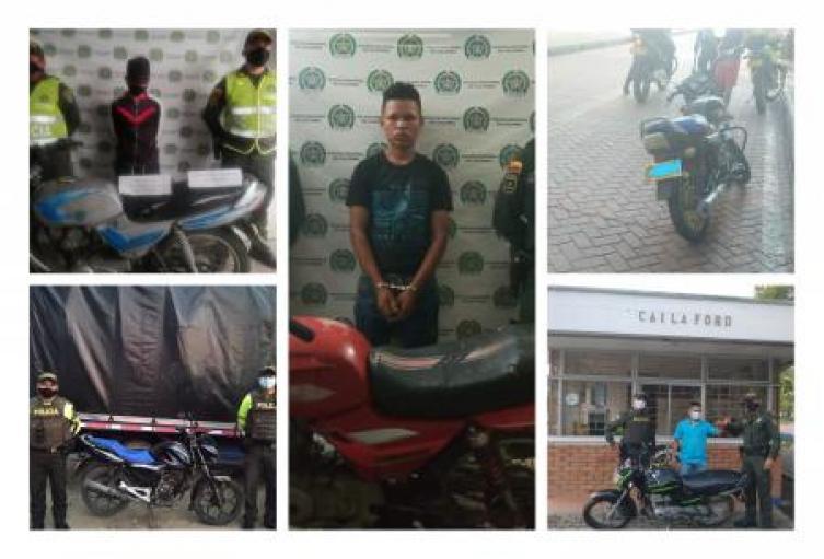 Policía Nacional en Sucre captura a cuatro personas por receptación y recupera seis motocicletas en diferentes municipios.