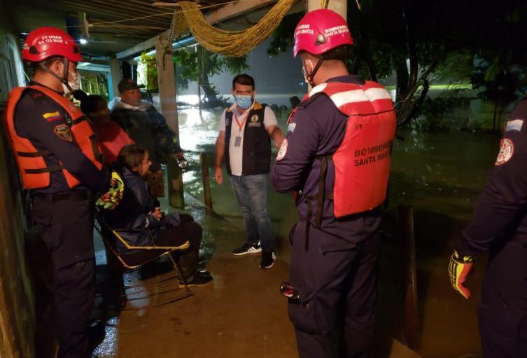 Nuevas afectaciones por creciente del Río Guachaca por fortuna no hubo afectaciones