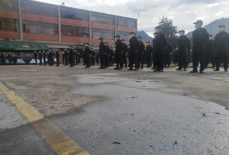 Uniformados de la Policía Metropolitana de Bogotá