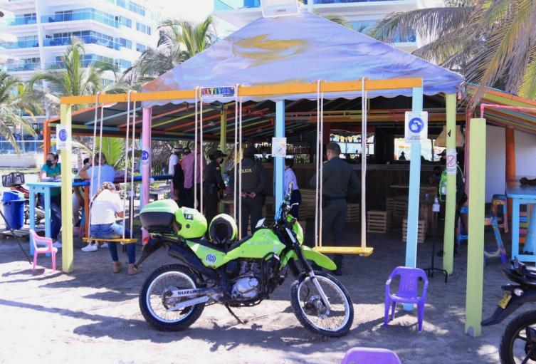 Zona de bajamar en Cartagena