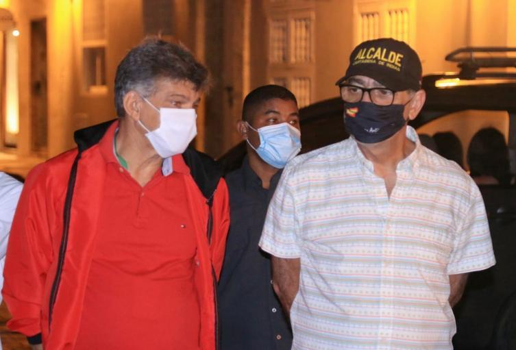 Alcalde Cartagena y secretario del interior