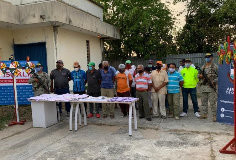Diecinueve personas fueron capturadas por el delito de de ejercicio ilícito de actividad monopolística de arbitrio rentístico en el municipio de Since(Sucre)