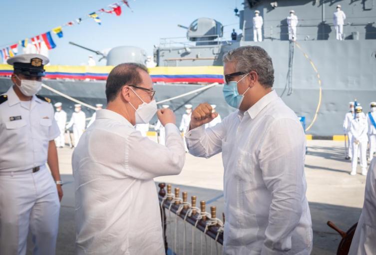 Embajador de Corea del Sur en Colombia y Presidente Duque