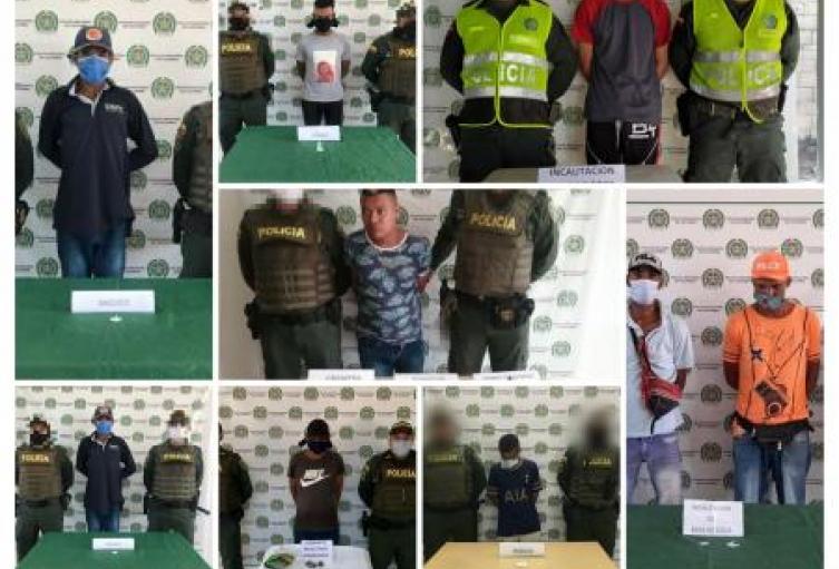 Policía Nacional en Sucre incauta más de 500 dosis de estupefacientes ,decomisa armas y captura a presuntos expendedores en los municipios de Corozal, Morroa , San Benito Abad y Sincelejo.