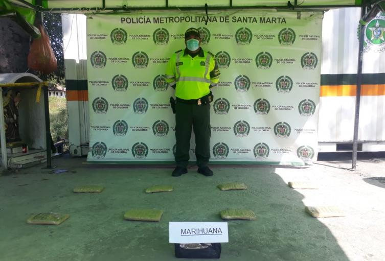 Judicial, Policía, Magdalena, Santa Marta, Municipios, Incautación