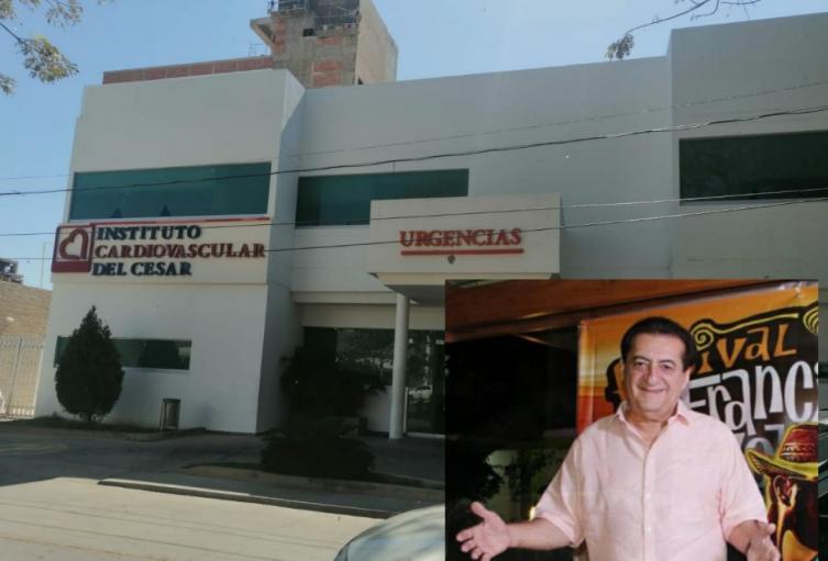 El cantante cumple 15 días en El Instituto Cardiovascular del Cesar