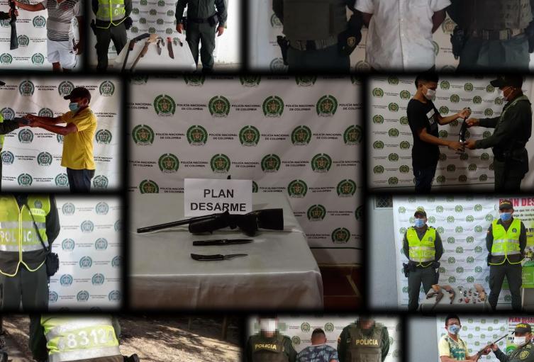 Policía Nacional en Sucre lidera plan desarme en los municipios de Corozal, San Benito, Chalán, San Pedro, y  Buena Vista