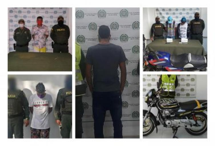 Por el delito de hurto ,cuatro presuntos delincuentes fueron capturados en los municipios de Los Palmitos y Sincelejo por unidades de la Policía Nacional en el departamento de Sucre