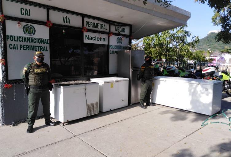 La Policía avanza en la recuperación de otros electrodomésticos y equipos de computo