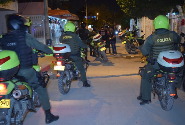 En la noche del 1 de enero fueron intervenidos varios sectores