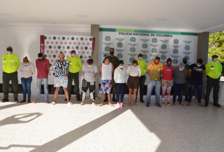 los capturados eran liderados por alias ' El Oso'
