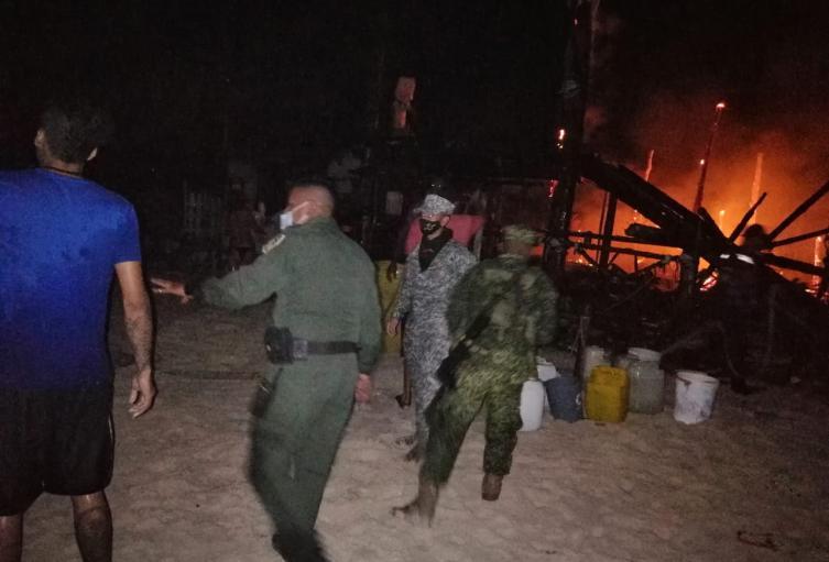 Incendio en Playa Blanca