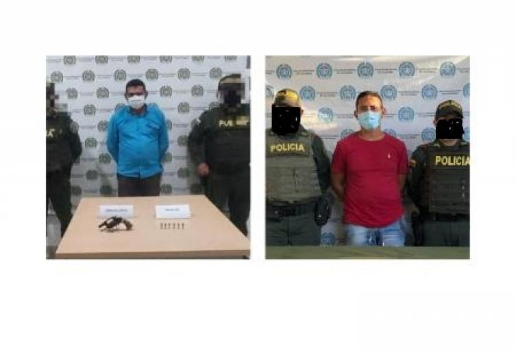 Por los delitos de porte ilegal de armas de fuego y  de acto sexual con menor de 14 años, dos personas fueron capturadas en los municipios de Galeras y Sincelejo por parte de unidades policiales en el departamento de Sucre.