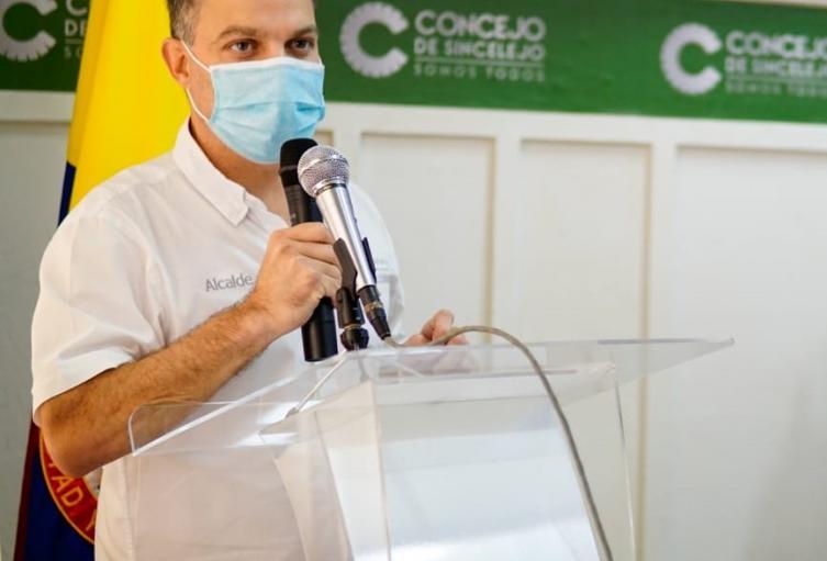 Alcalde de Sincelejo Andrés Gómez Martínez.