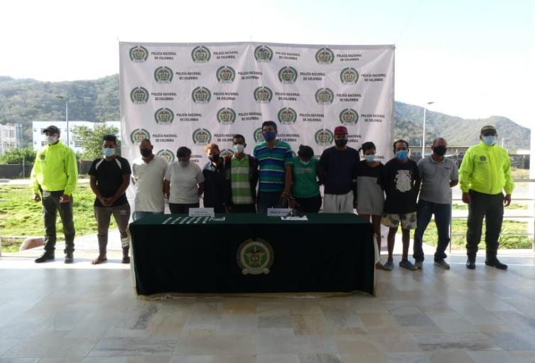 Los capturados tendrían el control de tráfico de drogas en algunos sectores de la ciudad
