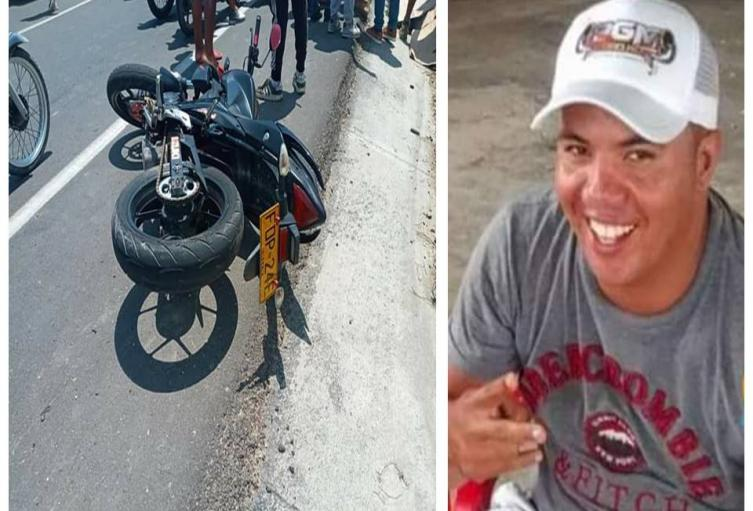 Se accidentó en su motocicleta
