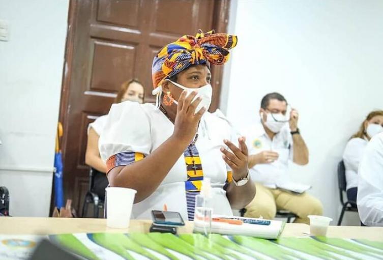 Cinthya Pérez Amador, ex primera dama del Distrito de Cartagena