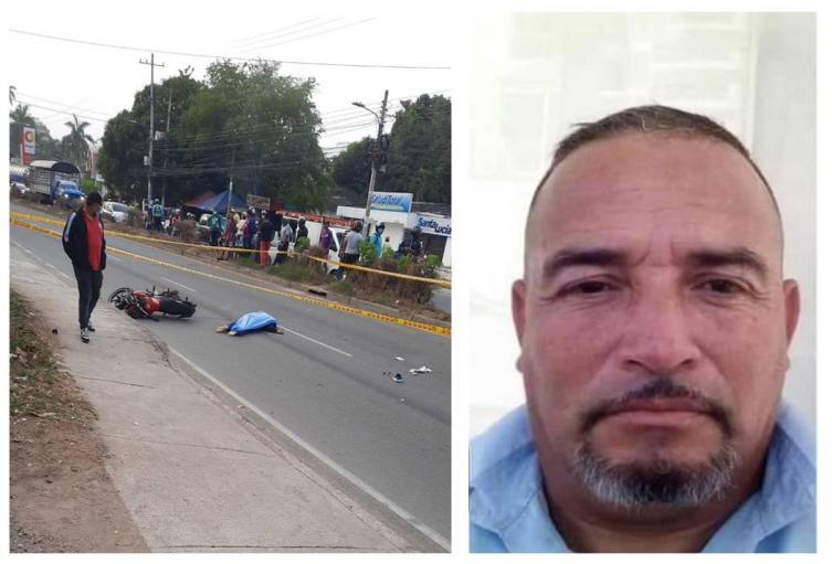 Iba en su moto cuando al parecer fue arrollado por un vehículo