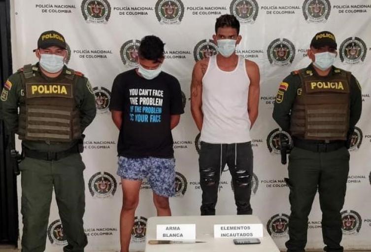 La captura fue presuntamente por el delito de hurto