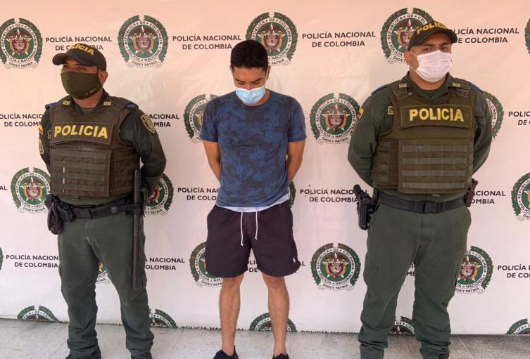 El capturado fue sorprendido con sustancias alúcinogenas