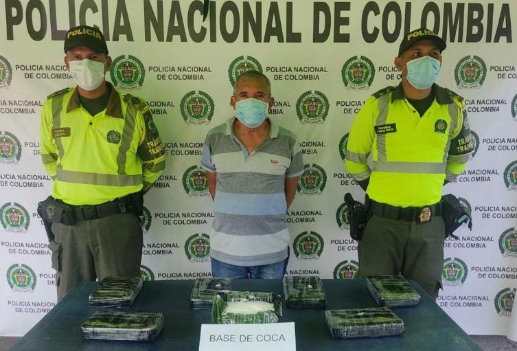 El capturado fue sorprendido portando cocaína