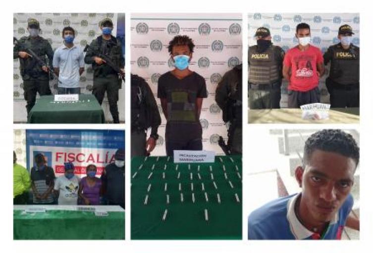 Capturadas siete personas por transporte de  de estupefacientes en Sucre