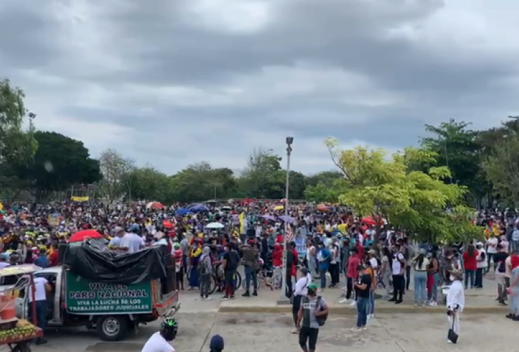 Miles de barranquilleros protestaron en el marco del Paro Nacional.