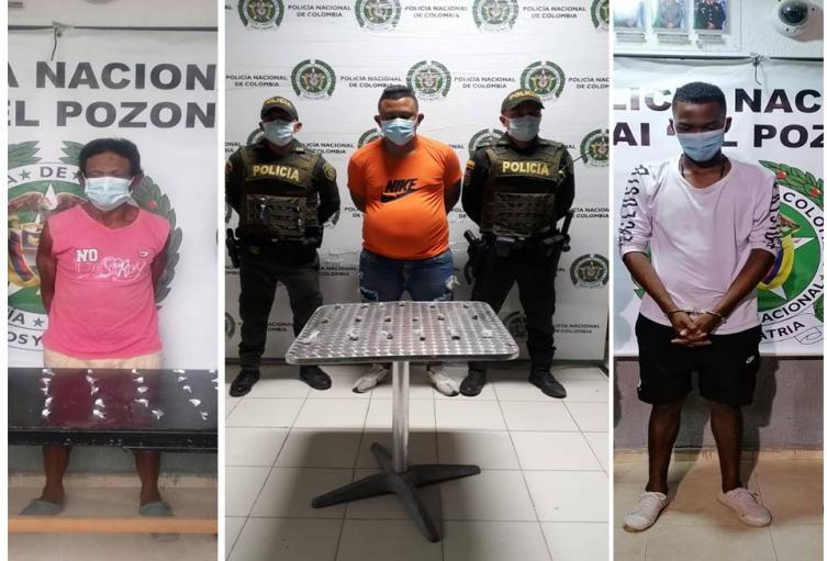 Dos con droga y uno por fuga de presos