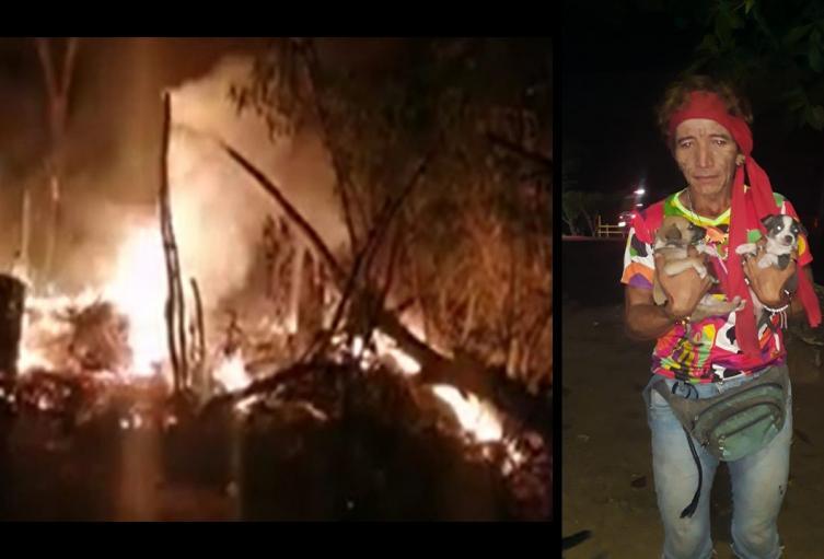 Mujer trans a la que le quemaron su humilde vivienda