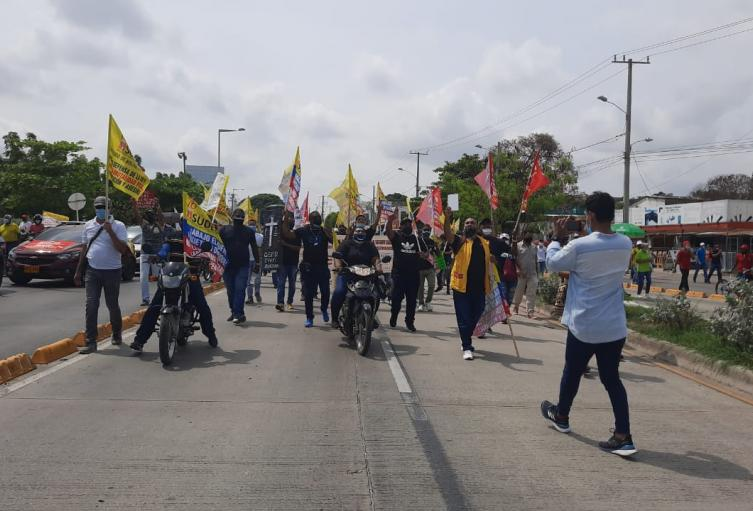 Marcha en contra de la Reforma Tributaria
