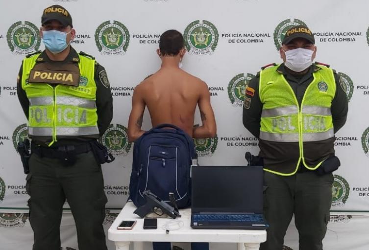 Minutos antes de su captura había sido reportado un robo a mano armada
