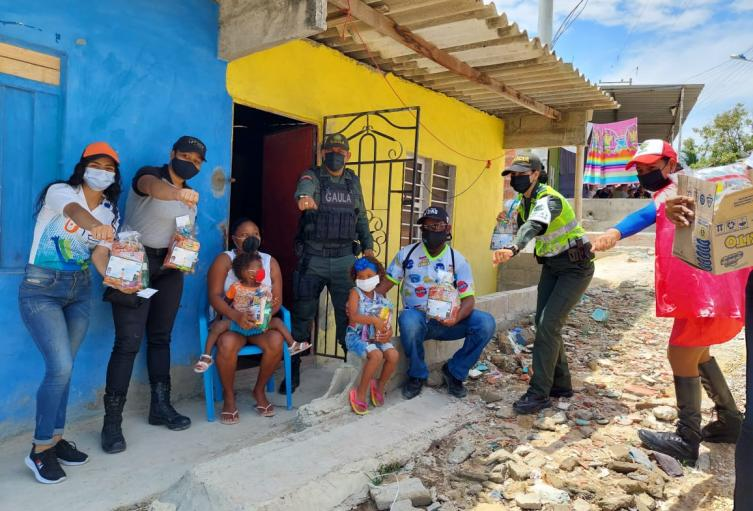 Llegaron a dos barrios vulnerables de la ciudad
