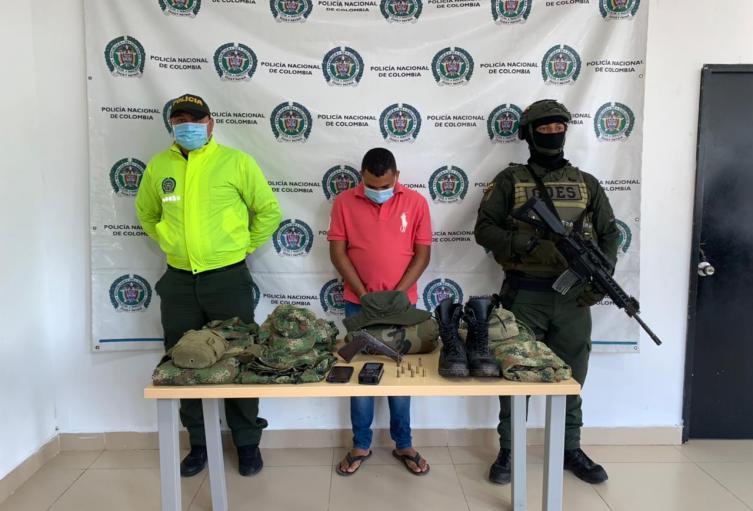 Fue capturado en el municipio de Fonseca