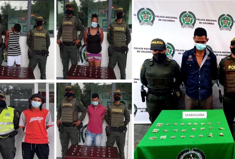 Cinco capturados en diferentes barrios de la ciudad