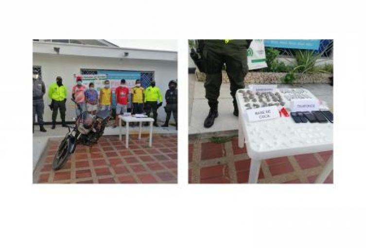 Por el delito de tráfico,fabricación o porte de estupefacientes fueron capturadas  cinco personas en el municipio de Tolú,Sucre