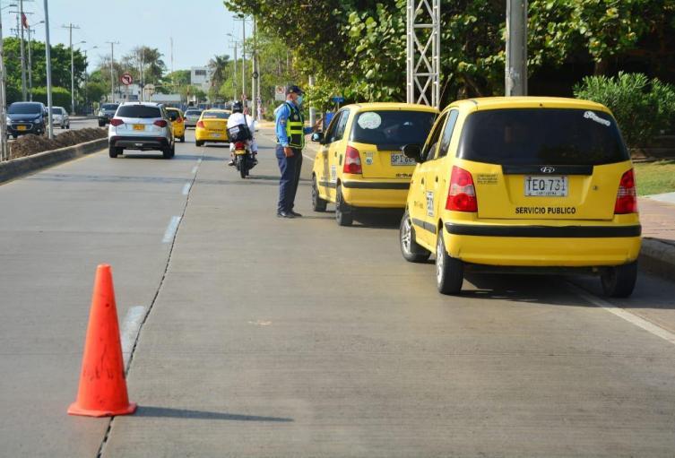 Rotación de pico y placa para taxis en Cartagena