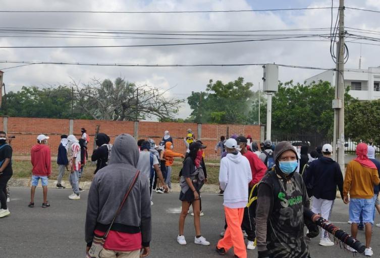 Protestas en Barranquilla.