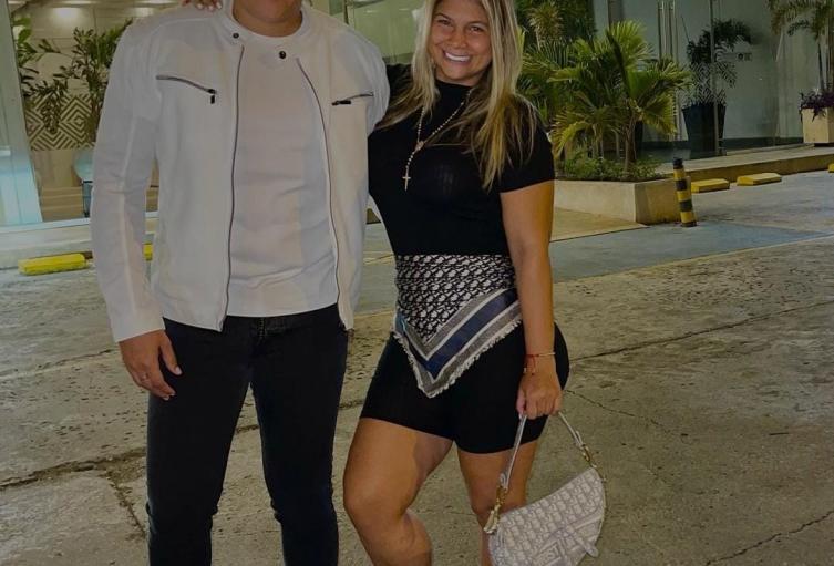 Rafa Pérez y su esposa