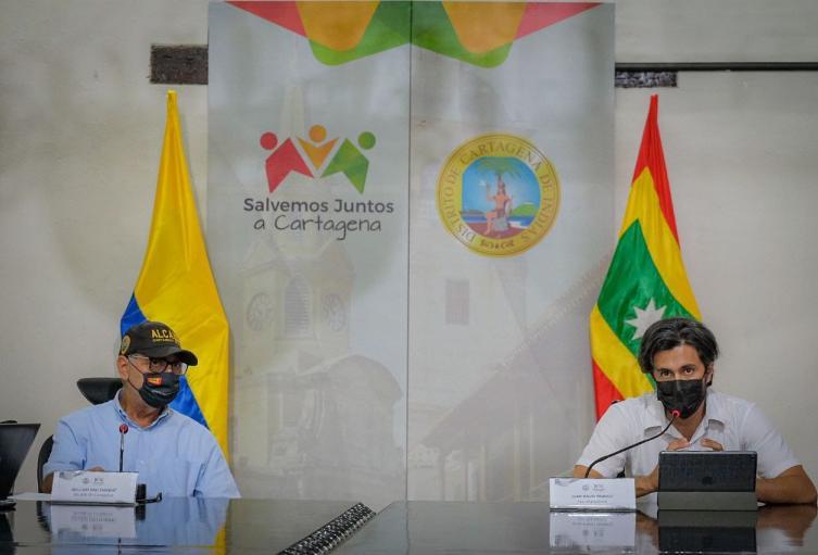 Alcalde de Cartagena y Secretario de Planeación del distrito
