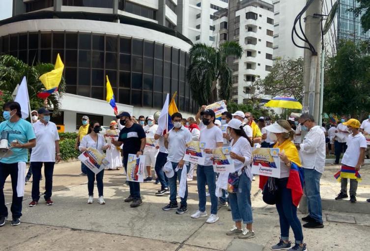Marcha del silencio en Barranquilla.