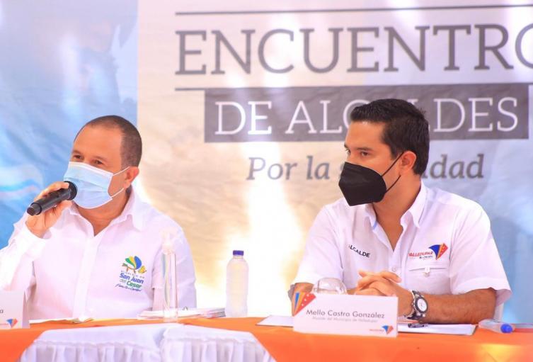 Alcalde de San Juan del Cesar Álvaro Díaz y Alcalde de Valledupar Mello Castro