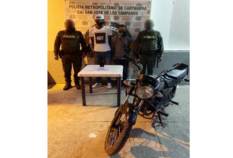 Fueron interceptados por policías en el barrio La Providencia