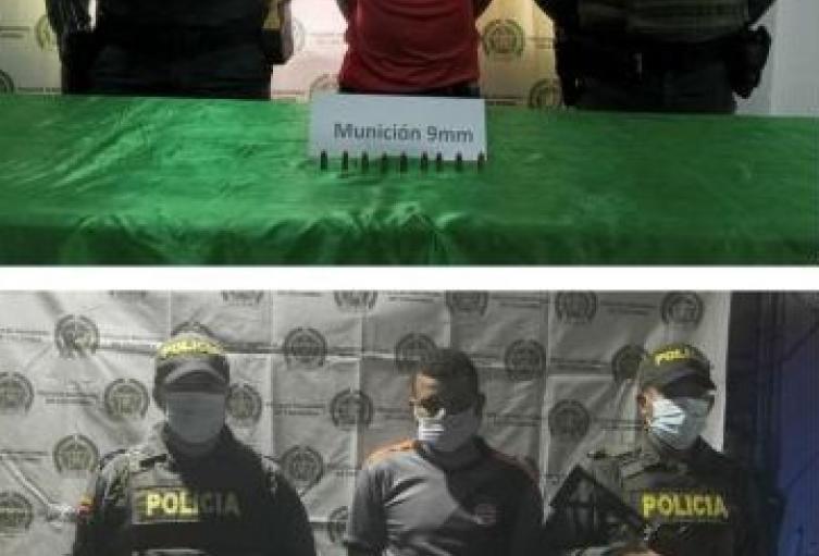 Por el delito de fabricación, tráfico y porte o tenencia de armas de fuego, accesorios, partes o municiones, fueron capturadas dos personas en Since, Sucre