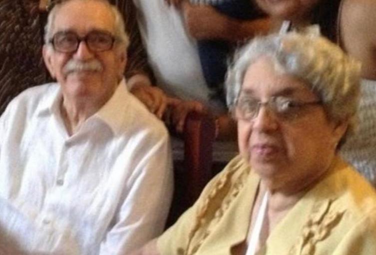 Gabo y su hermana Margarita.