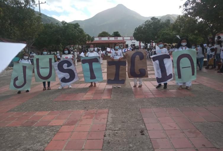Comunidad Kankuama realizó una marcha pacífica exigiendo justicia