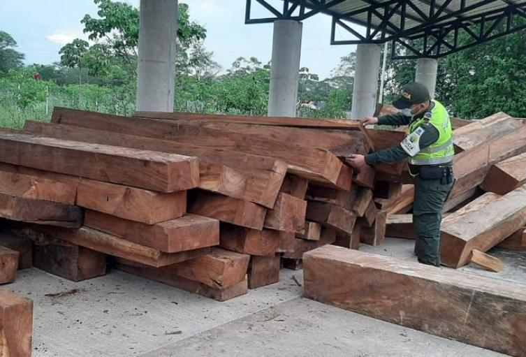 Madera incautada avalada en más de 97 millones de pesos