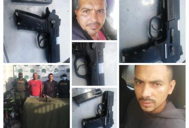 Por el delito de tráfico, porte, fabricación o tenencia de arma de fuego fueron capturadas dos personas en Sincelejo